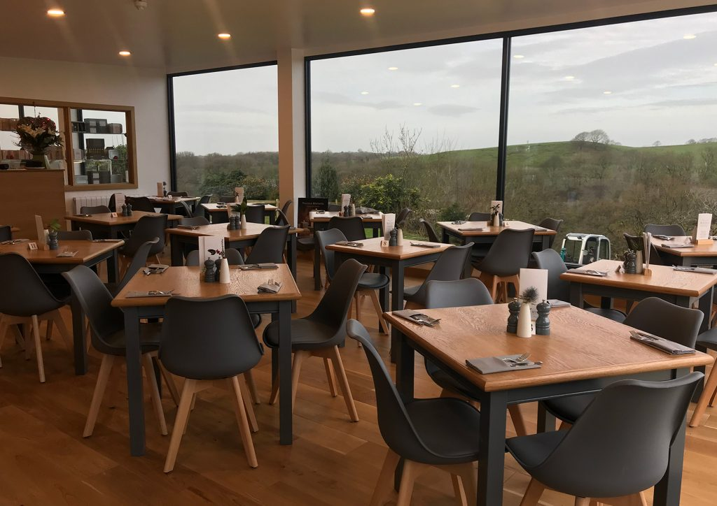 whins green kitchen seating area